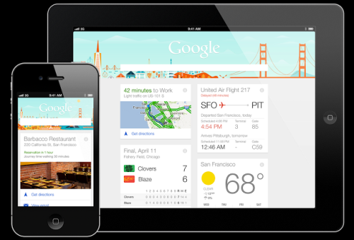 Google Now  Apple iOS, iPhone  iPad